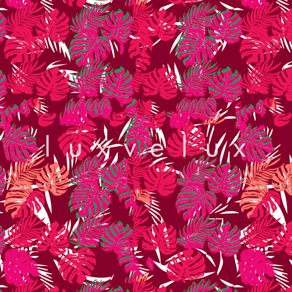 Tropical Palm Leaves Pink Coffee Sandra