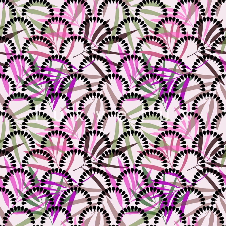 Umbrella Flowers Black Fuchsia Regina