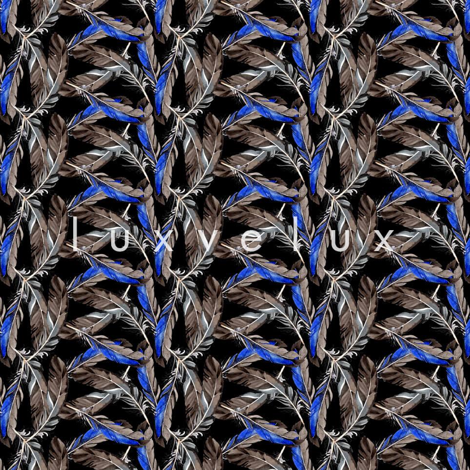 V Leaves Blue Background Brown Matilda
