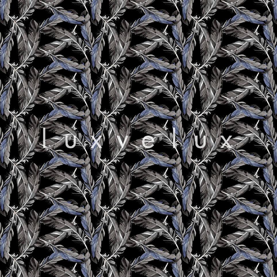 V Leaves Mink Background Gray Matilda