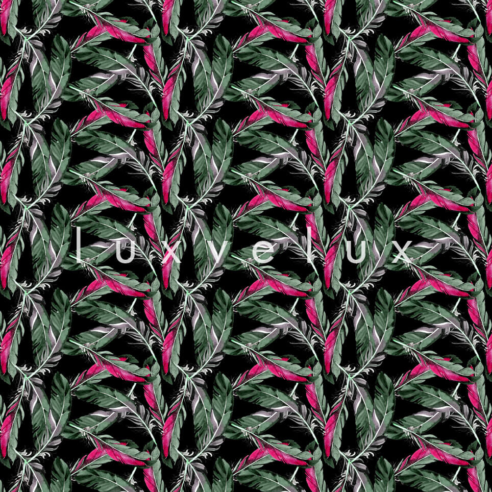 V Leaves Pink Background Green Matilda