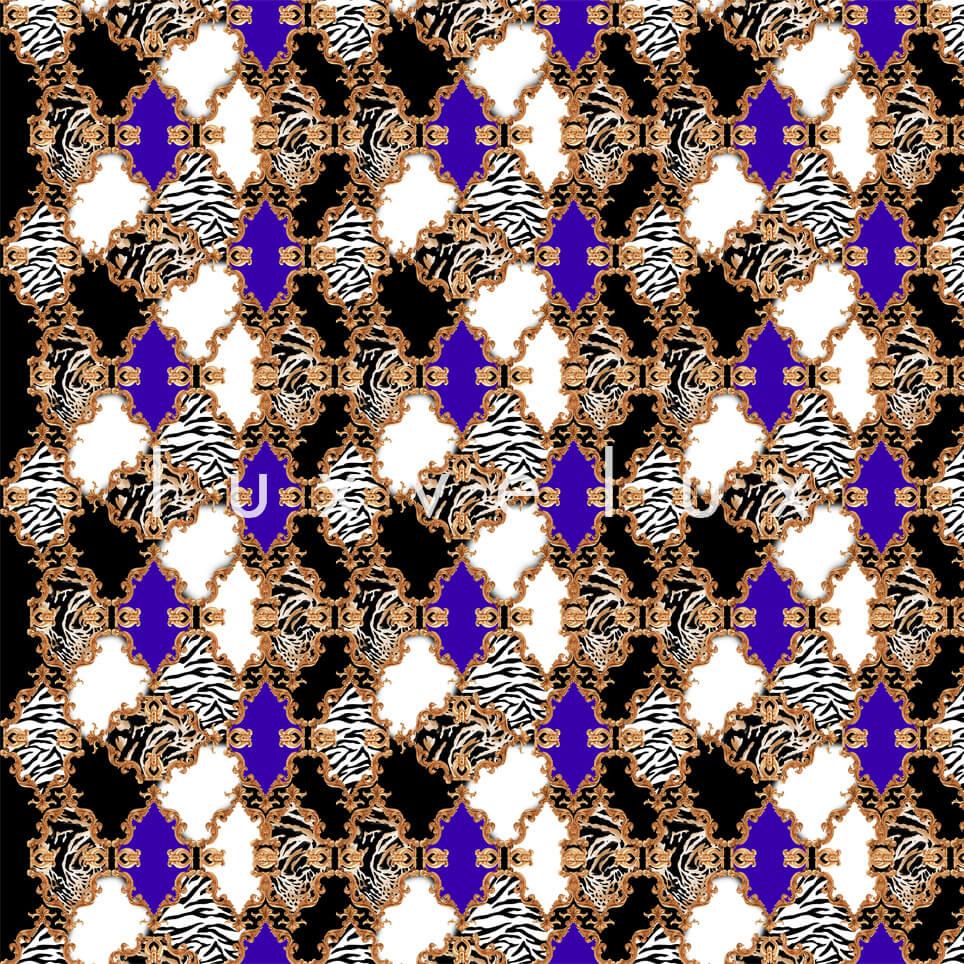 Zebra Backed Motifs Fuchsia Coffee Selena