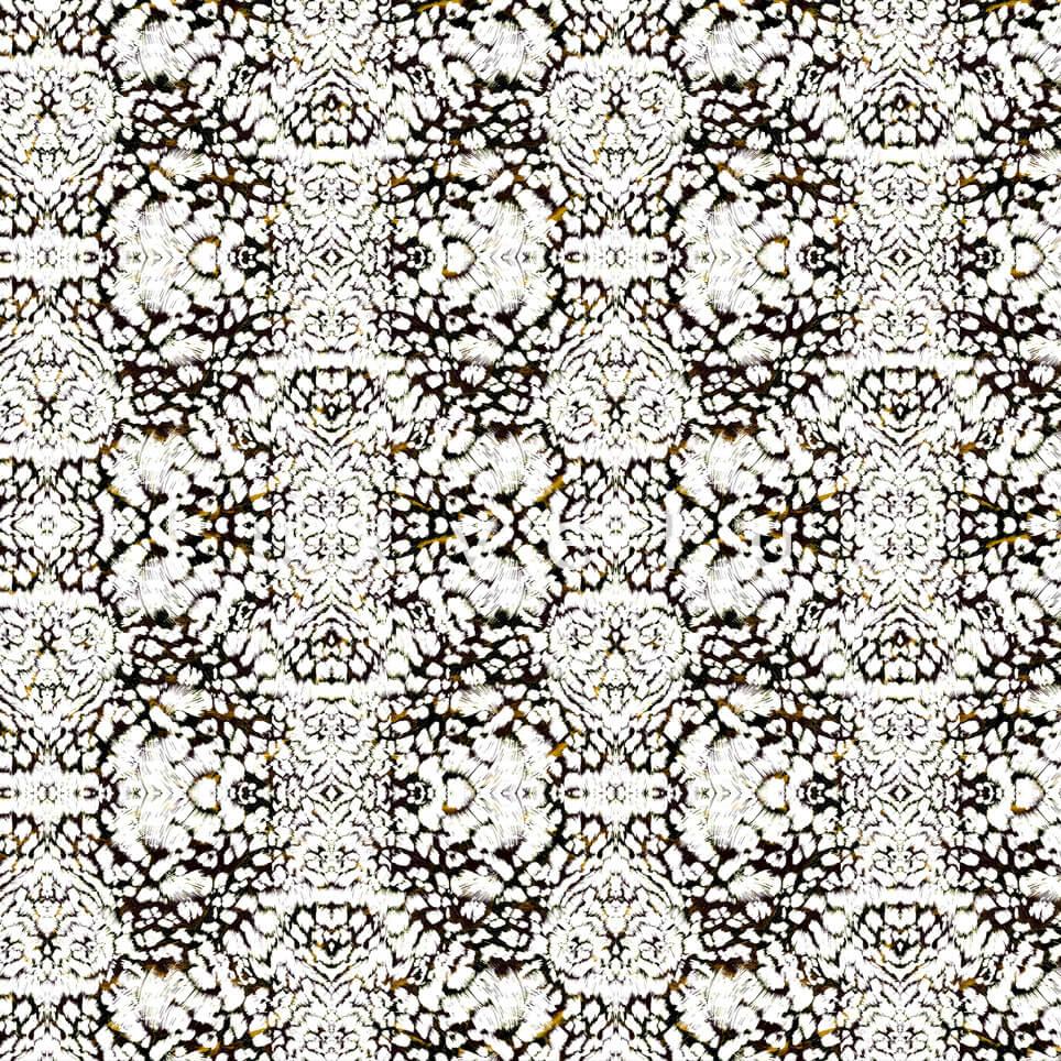 Bandana Damask Pattern White Jami
