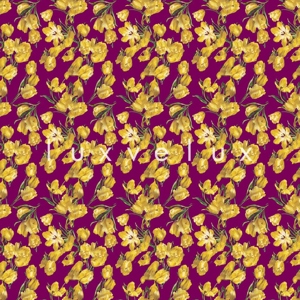 Butterfly on Flower Petals Yellow Kris