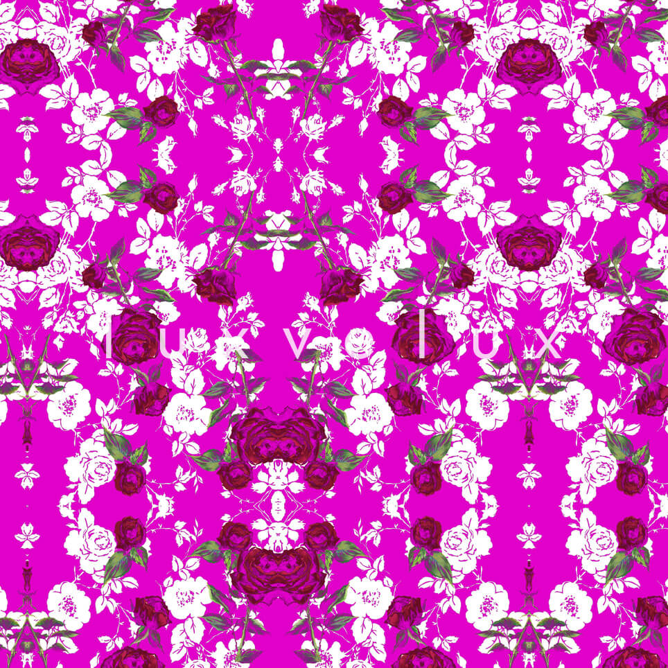Chain Lined Row Flowers Pink Kayla