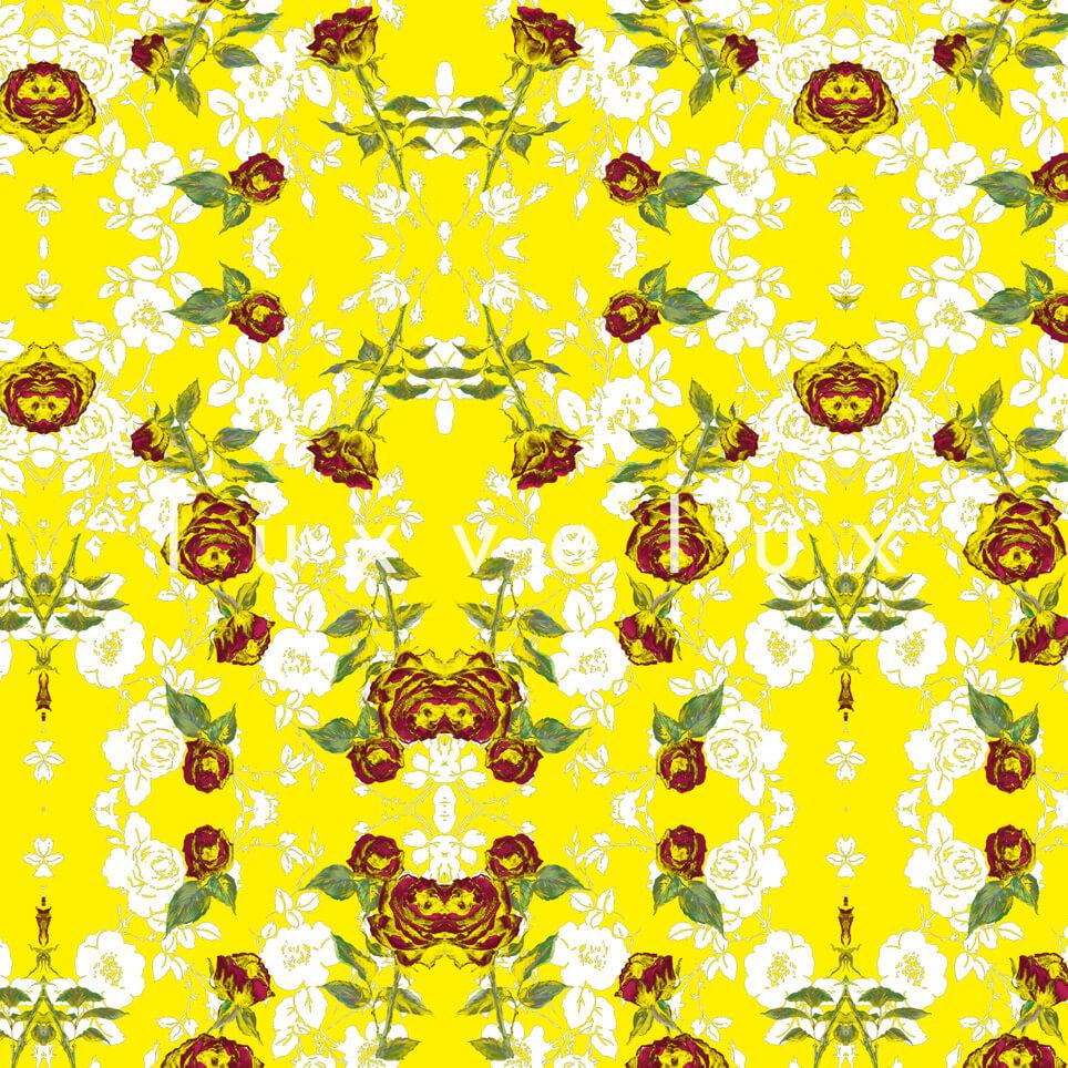 Chain Lined Row Flowers Yellow Kayla