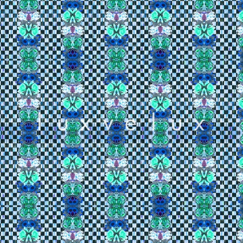 Checkered Butterfly Pattern Mint Karen