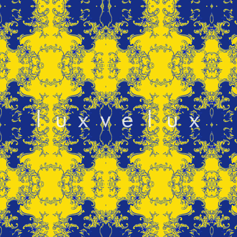 Damask Pattern On The Floor Yellow Alberta
