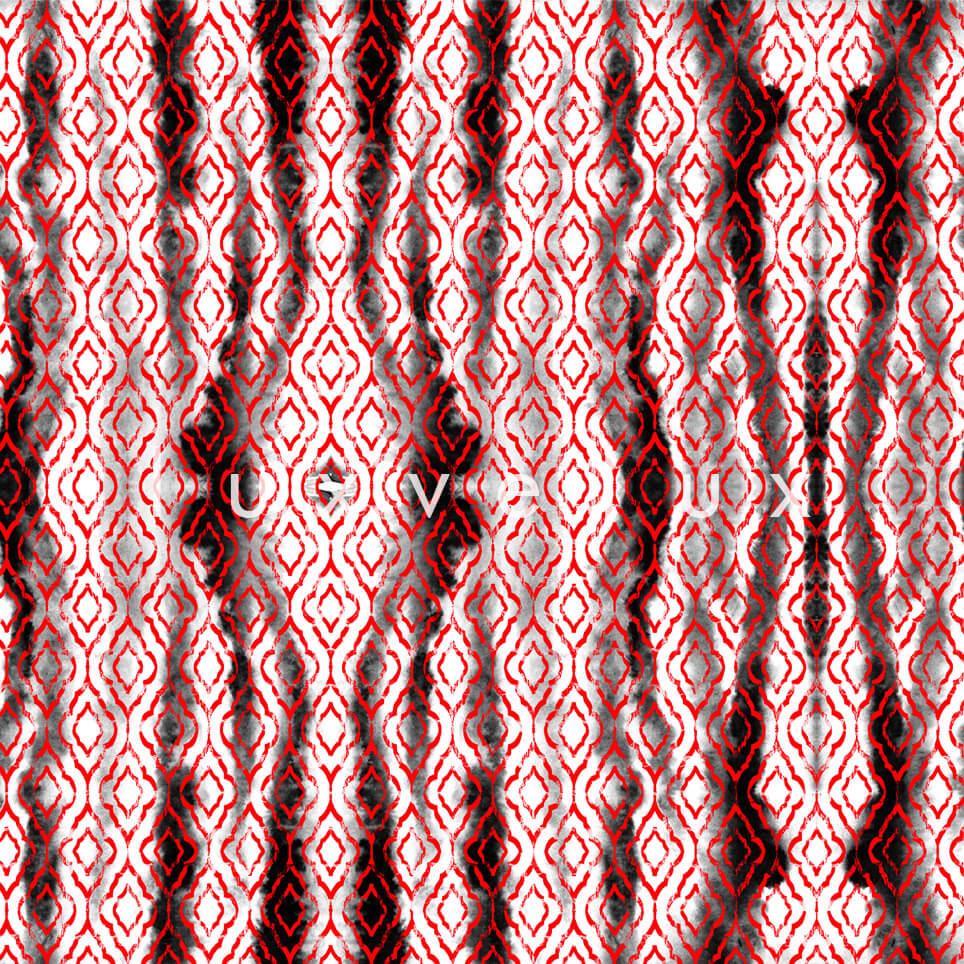 Dancing Stripes Red Heidi