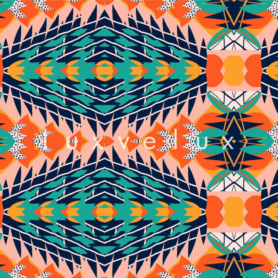 Geometric on Decorative Ground Orange Bella