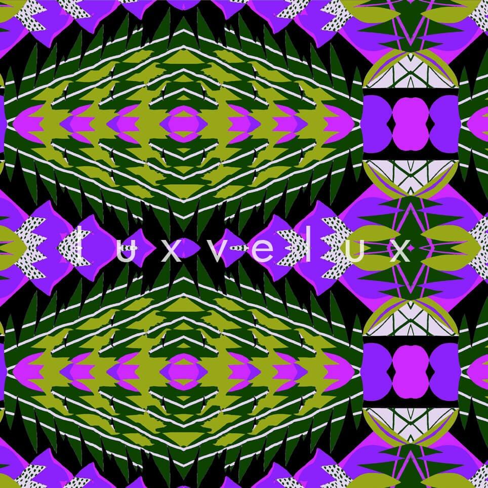 Geometric on Decorative Ground Purple Bella