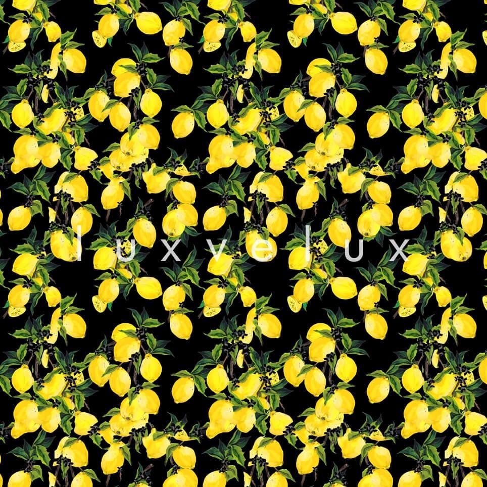 Leafy Lemon Tree Yellow Black Jenny