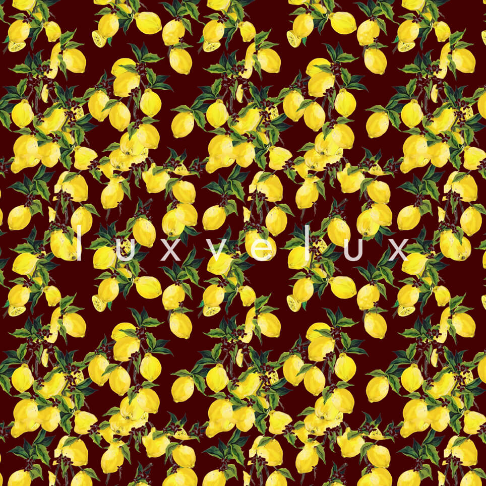 Leafy Lemon Tree Yellow Brown Jenny