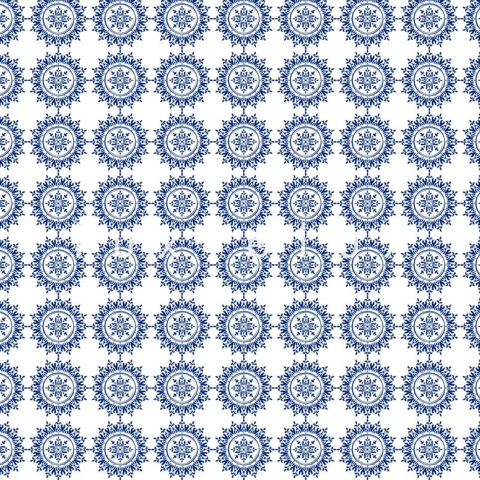 Plain Tiled Pattern Grey Blue Faye