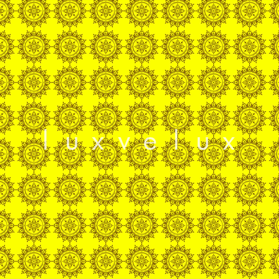 Plain Tiled Pattern Yellow Faye