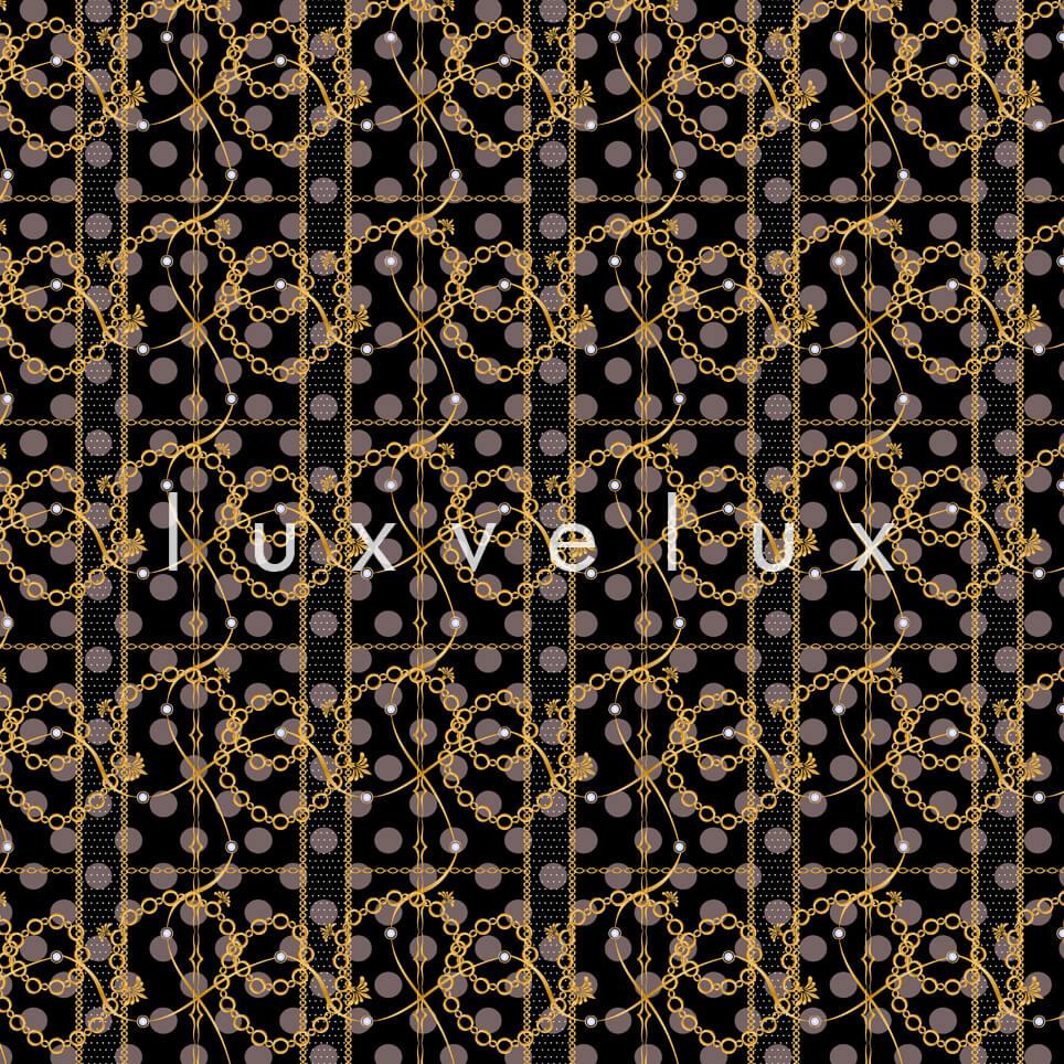 Scratched Chain Pattern Black Madonna