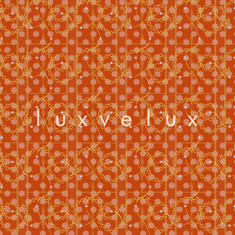 Scratched Chain Pattern Orange Madonna