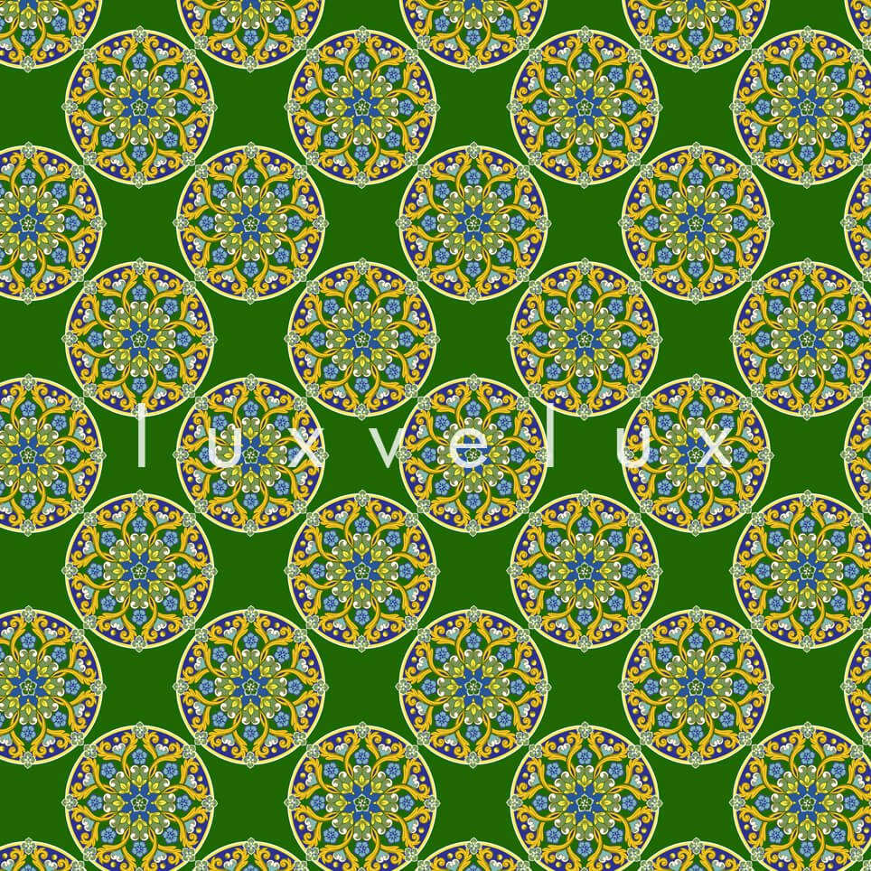Tile Oranges on Flat Ground Green Lily
