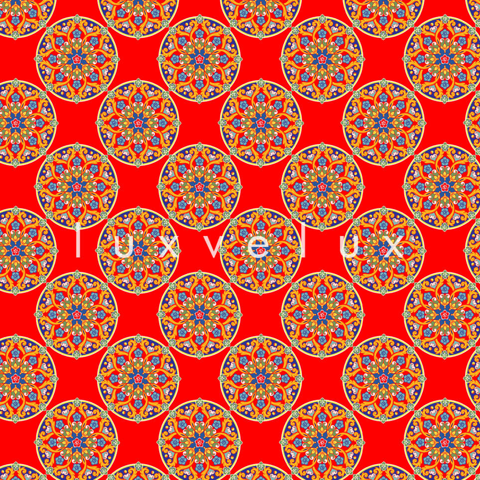 Tile Oranges on Flat Ground Red Lily