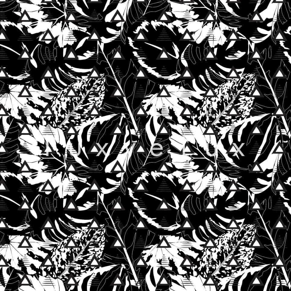 Triangle Tropical Forests Black and White Jane