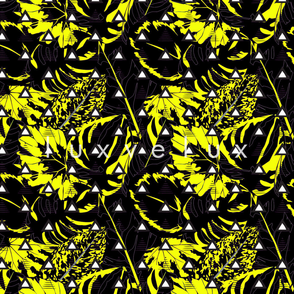 Triangle Tropical Forests Black and Yellow Jane